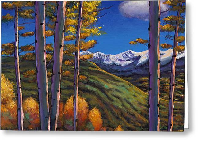 Autumn Aspens Greeting Cards - Serenity Greeting Card by Johnathan Harris
