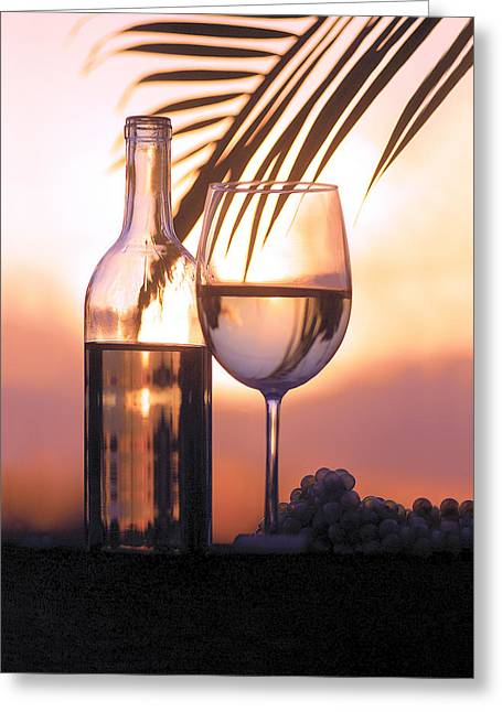 Wine Country. Greeting Cards - Serenity Greeting Card by Jon Neidert