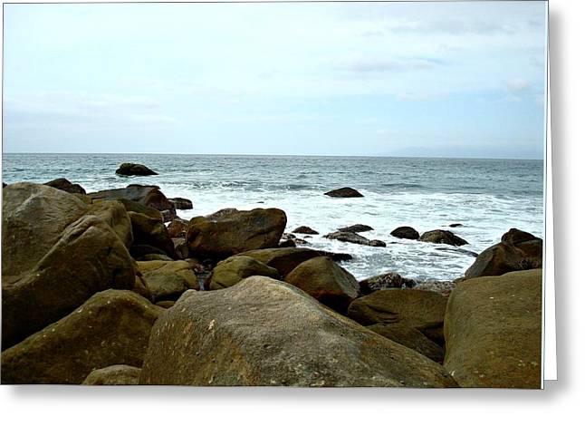 Ocean Scenes Greeting Cards - Serenity Greeting Card by Kathy Bucari