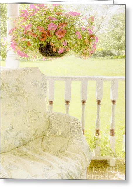 Painted Wood Greeting Cards - Serenity Greeting Card by Margie Hurwich