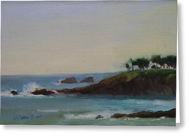 California Beach Greeting Cards - Serenity Greeting Card by Maria Hunt