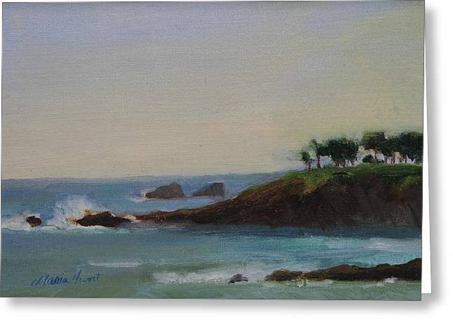 Ocean Scenes Greeting Cards - Serenity Greeting Card by Maria Hunt