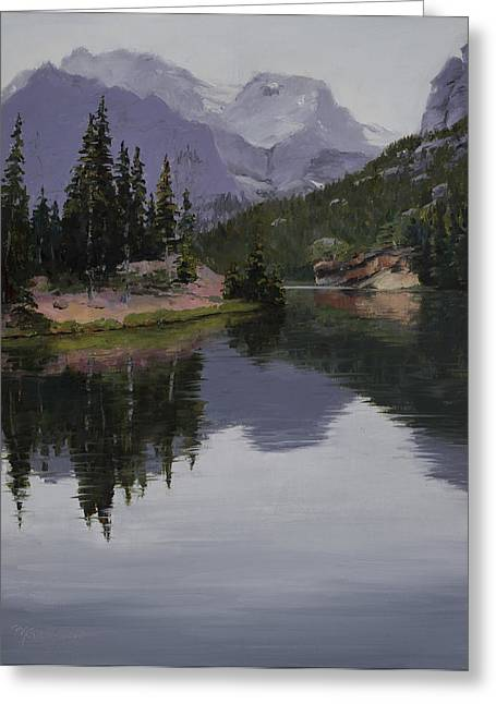 Rocky Mountain Posters Greeting Cards - Serenity Greeting Card by Mary Giacomini