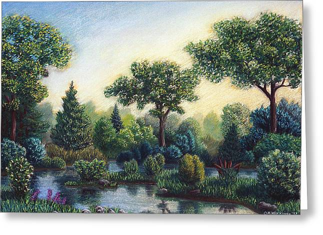 Haze Pastels Greeting Cards - Serenity Greeting Card by Michael Heikkinen