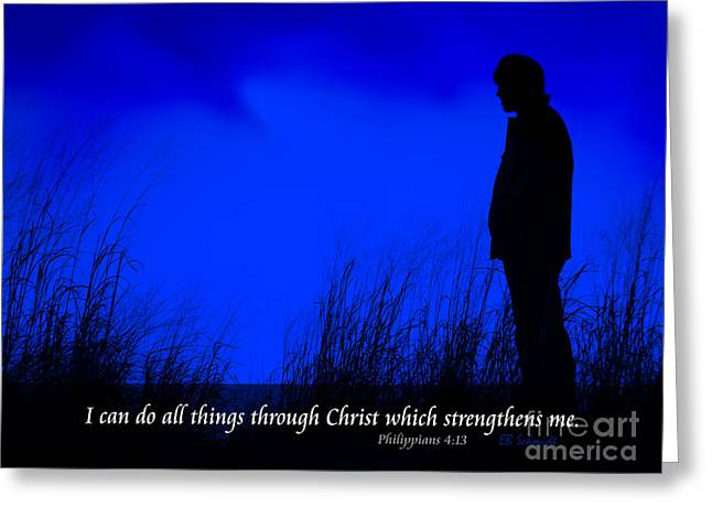 Empowerment Photographs Greeting Cards - Serenity - Philippians 4 Greeting Card by E B Schmidt
