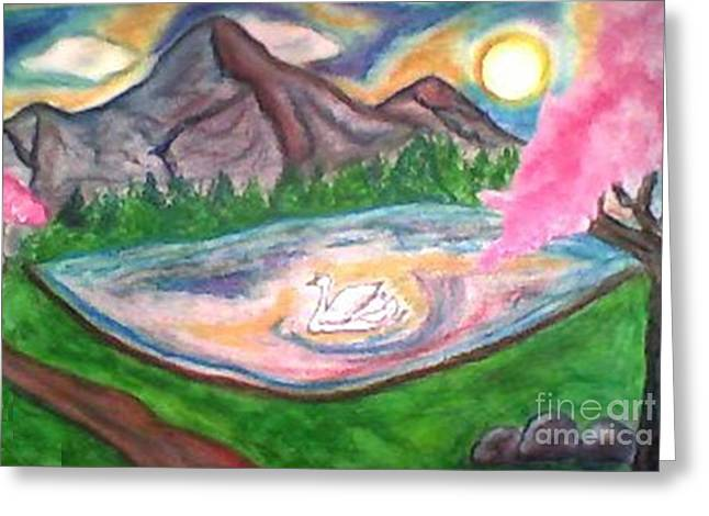 Son Pastels Greeting Cards - Serenity Pond Greeting Card by Lewanda Laboy