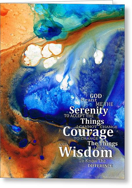 Serenity Prayer 4 - By Sharon Cummings Greeting Card by Sharon Cummings