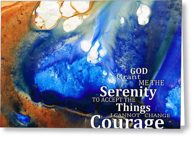 Serenity Prayer 4 - By Sharon Cummings Greeting Card by Sharon Cummings