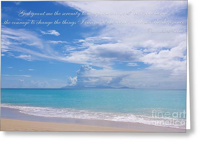 Reinhold Niebuhr Greeting Cards - Serenity Prayer by Reinhold Niebuhr Greeting Card by Olga Hamilton