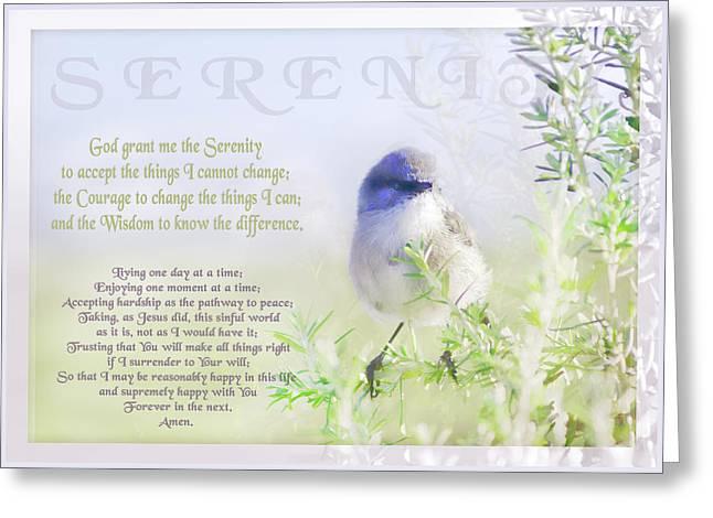 Serenity Prayer Greeting Card by Holly Kempe