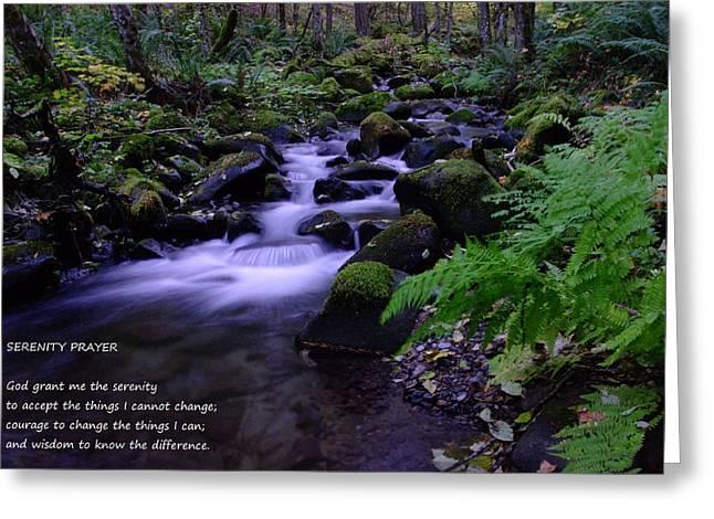 Reinhold Niebuhr Greeting Cards - Serenity Prayer  Greeting Card by Jeff  Swan