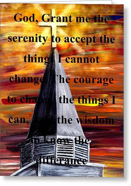 Born Again Digital Greeting Cards - Serenity Prayer Greeting Card by Mark Moore