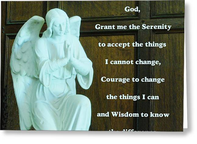 Aa Greeting Cards - Serenity Prayer Greeting Card by Philip Ralley