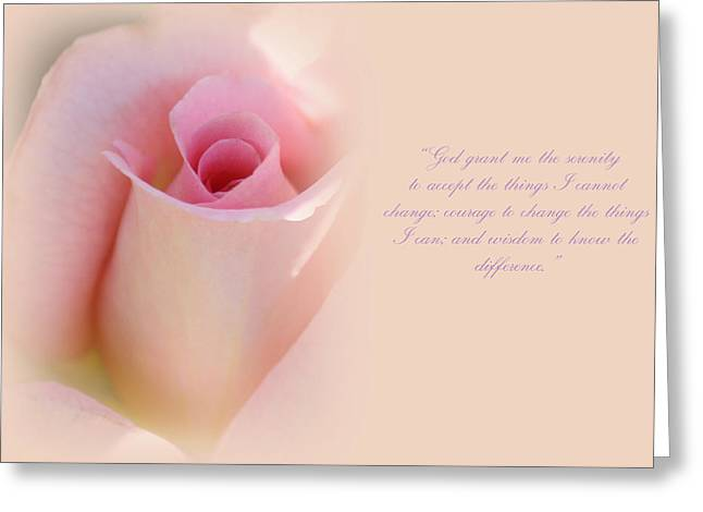 Serenity Prayer Greeting Card by  The Art Of Marilyn Ridoutt-Greene
