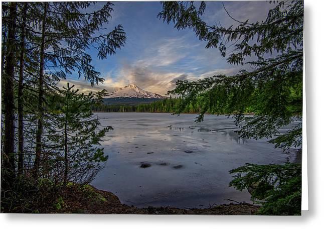 Mount Hood Oregon Greeting Cards - Serenity Greeting Card by Rick Berk