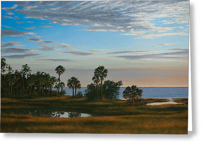 Forgotten Paintings Greeting Cards - Serenity Greeting Card by Rick McKinney