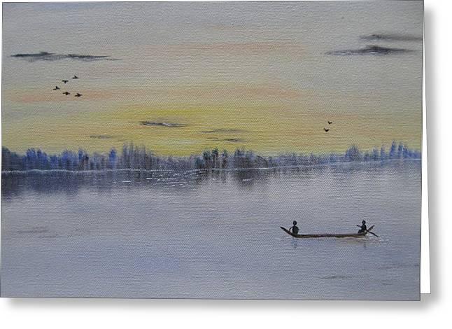 Bob Ross Paintings Greeting Cards - Serenity Greeting Card by Sayali Mahajan