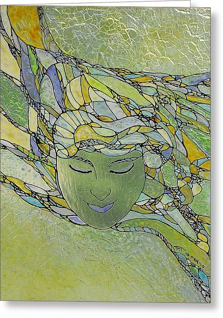 Surreal Glass Art Greeting Cards - Serenity Greeting Card by Teresa Young