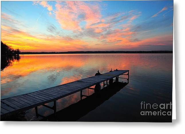 Skyscape Greeting Cards - Serenity Greeting Card by Terri Gostola