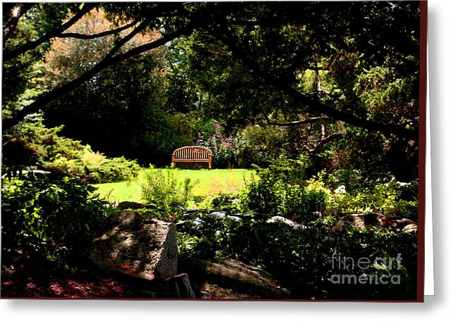 Photo Gallery Greeting Cards - serenity Blythwold Bristol RI Greeting Card by Tom Prendergast