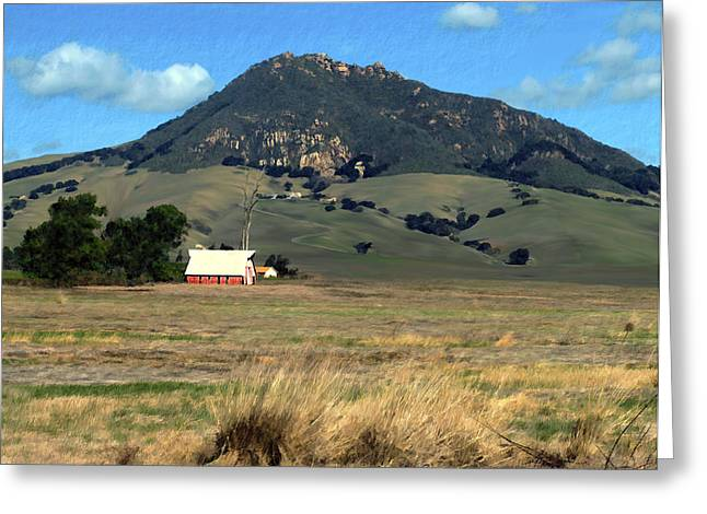 Bishops Peak Greeting Cards - Serenity under Bishops Peak Greeting Card by Kurt Van Wagner