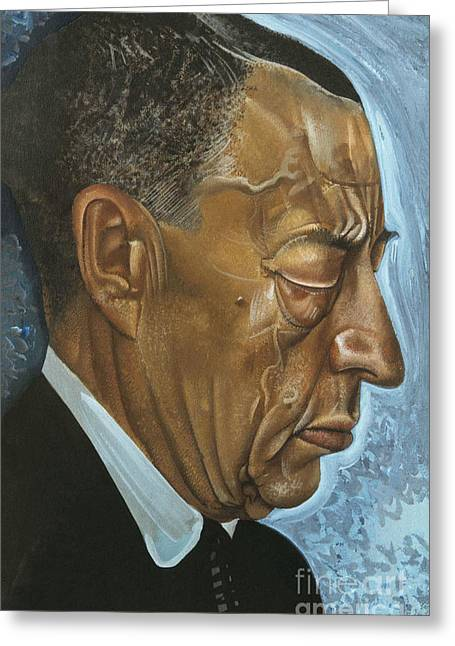 Strength Paintings Greeting Cards - Sergei Rachmaninoff Greeting Card by Celestial Images