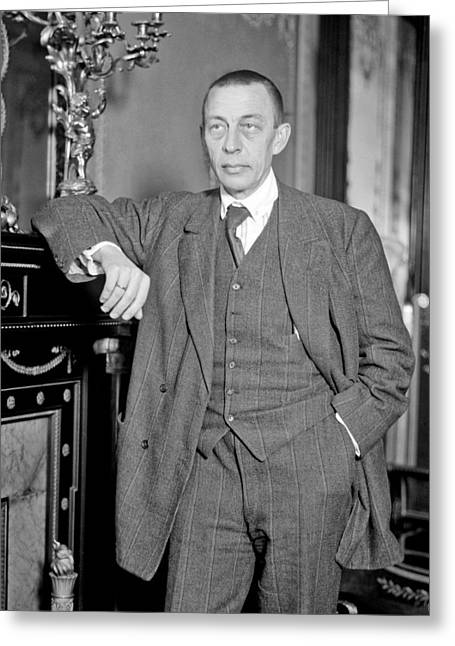 Song Writer Greeting Cards - Sergei Rachmaninoff Greeting Card by Mountain Dreams