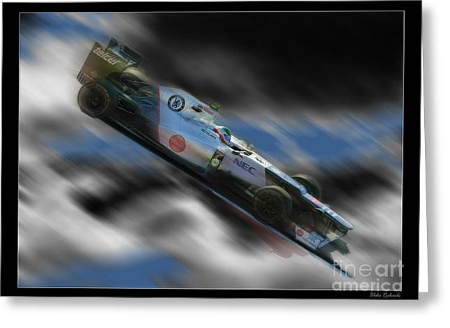 Sauber Greeting Cards - Sergio Perez  Greeting Card by Blake Richards