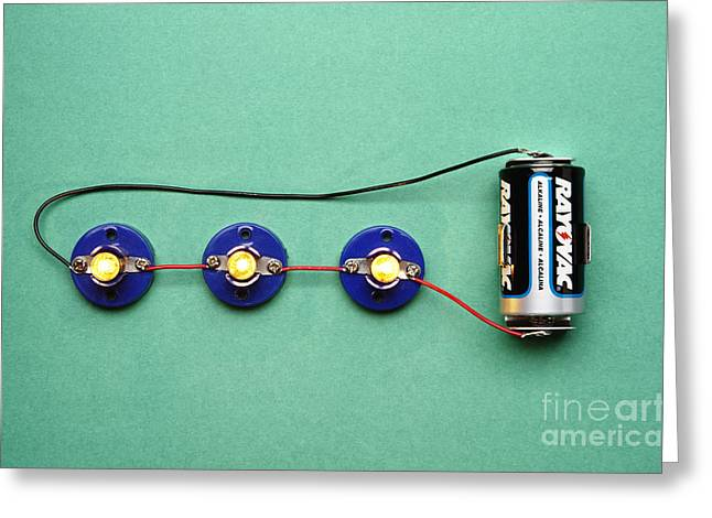 Alkaline Greeting Cards - Series Circuit Example Greeting Card by GIPhotoStock