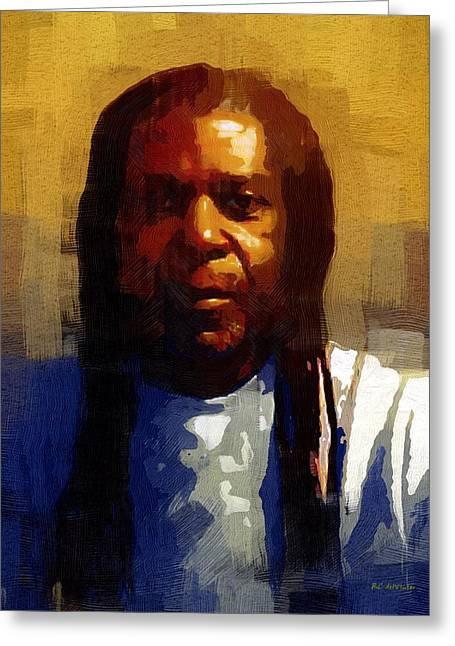 African-american Digital Greeting Cards - Seriously Now... Greeting Card by RC DeWinter