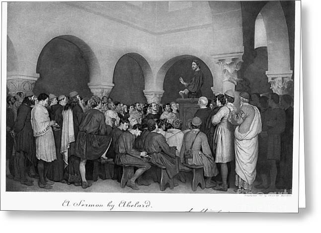Sermon By Abelard Greeting Card by Granger