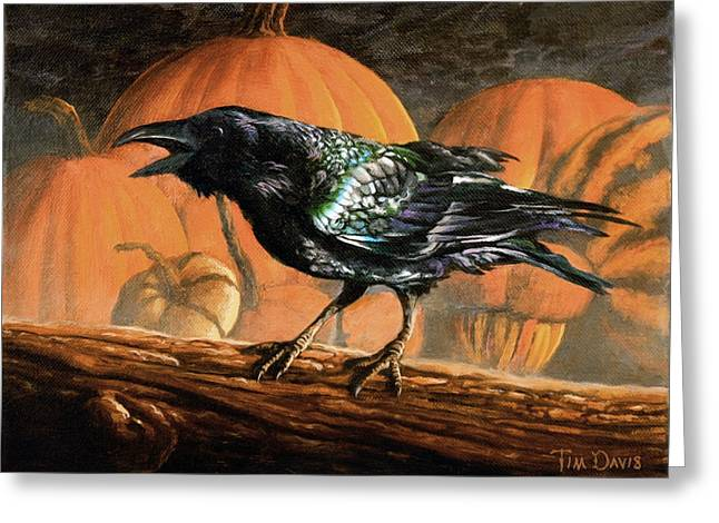 Gourds Greeting Cards - Sermon on the Perch Greeting Card by Tim Davis