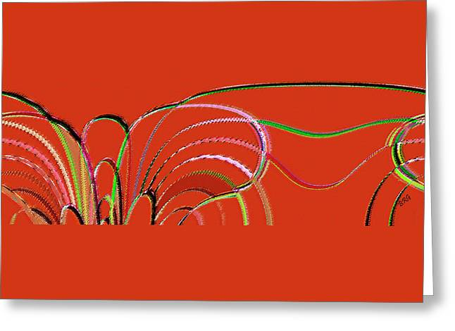 Ben And Raisa Digital Art Greeting Cards - Serpentine Greeting Card by Ben and Raisa Gertsberg