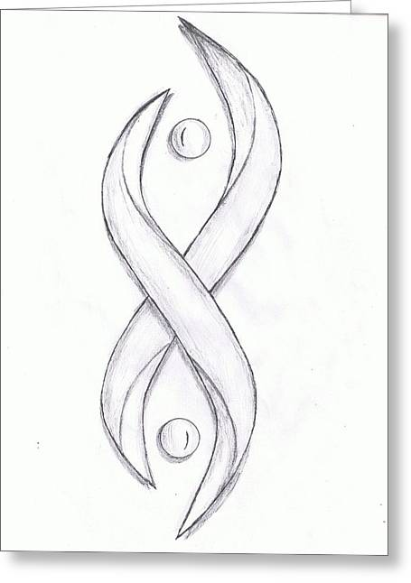 Levi Drawings Greeting Cards - Serpentine Greeting Card by Levi  Thompson