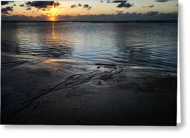 Scenes Of Pebble Beach Greeting Cards - Serrambi Sunrise II Greeting Card by Vinicios De Moura