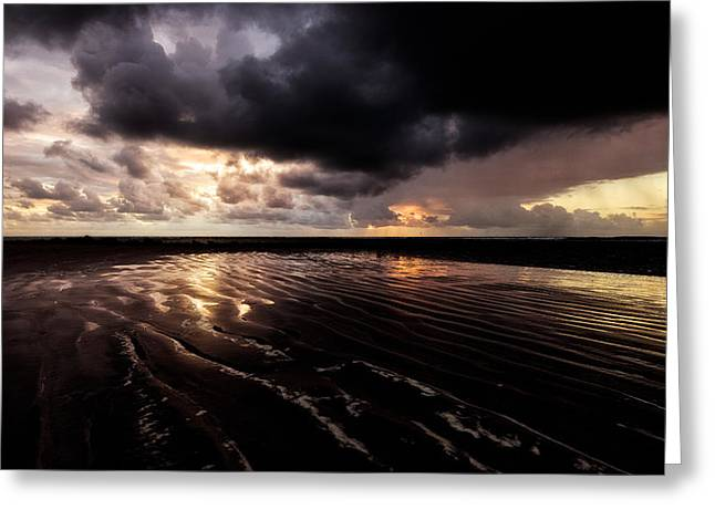 Scenes Of Pebble Beach Greeting Cards - Serrambi Sunrise III Greeting Card by Vinicios De Moura