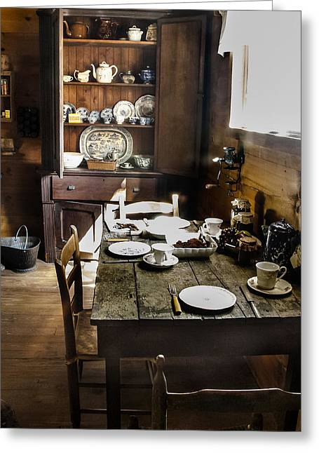 Pasco County Greeting Cards - Servant Dining Greeting Card by Norman Johnson