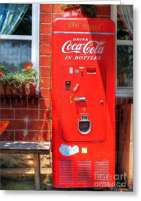 Vending Machine Photographs Greeting Cards - Serve Yourself 2 Greeting Card by Mel Steinhauer