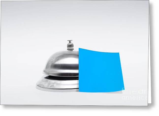 Service Bell With Blank Message Greeting Card by Jorgo Photography - Wall Art Gallery