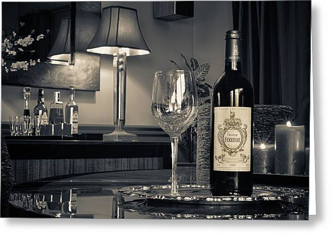 Wine Service Photographs Greeting Cards - Service for One Greeting Card by Dennis James