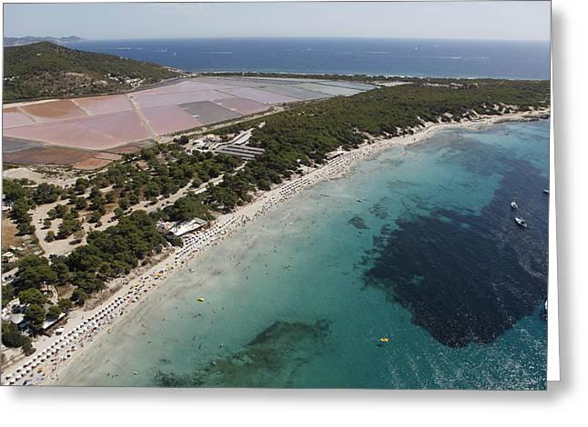 Ses Salines Beach And Salterns, Ibiza Greeting Card by Xavier Durán
