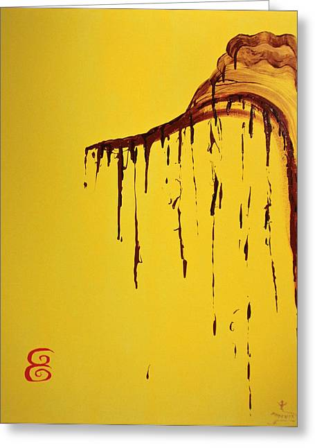 Santa Cruz Ca Paintings Greeting Cards - Sesame Honey Greeting Card by Phoenix The Moody Artist