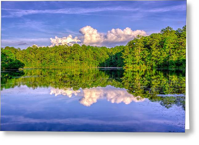 Glasses Reflecting Digital Greeting Cards - Sesqui Lake Greeting Card by Rob Sellers