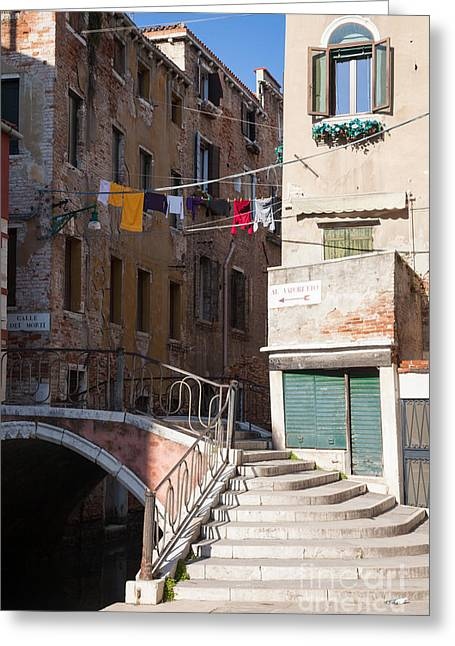Quartier Greeting Cards - Sestier San Polo - Venice Greeting Card by Matteo Colombo