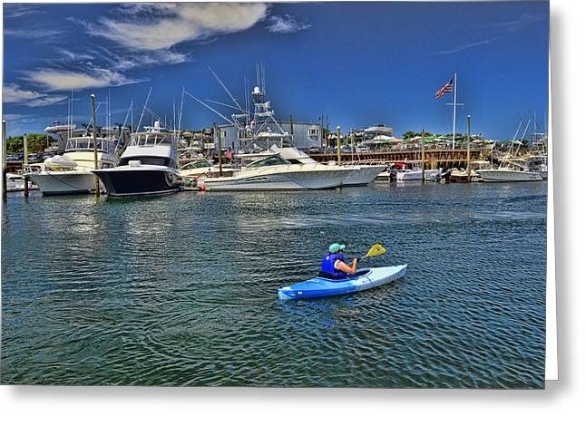 Harbor Sesuit Harbor Greeting Cards - Sesuit Harbor Greeting Card by Allen Beatty
