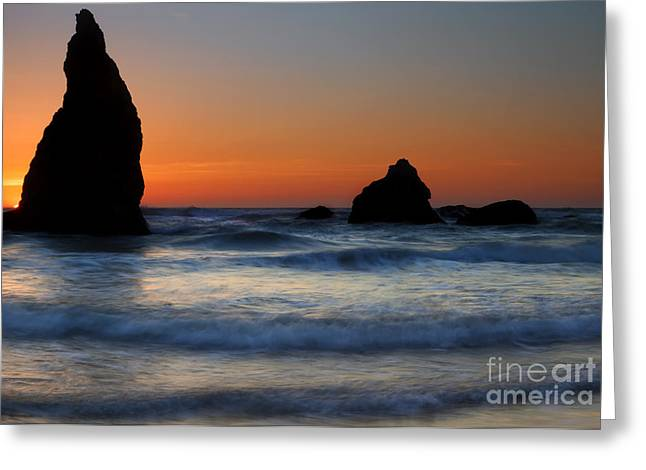 Bandon Greeting Cards - Set Against the Tides Greeting Card by Mike  Dawson