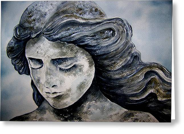 Set In Stone Greeting Card by Brenda Owen
