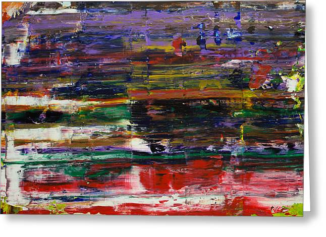 Abstract Expressionist Greeting Cards - Set Me free Greeting Card by Derek Kaplan