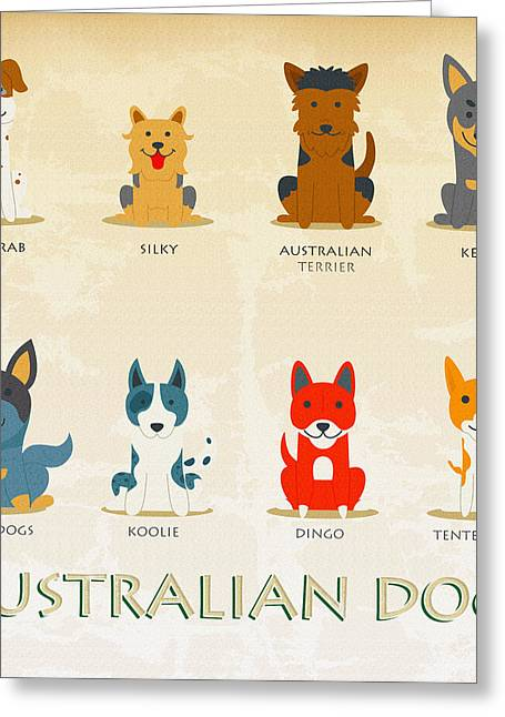 Set Of Australian Dogs Greeting Card by Don Kuing