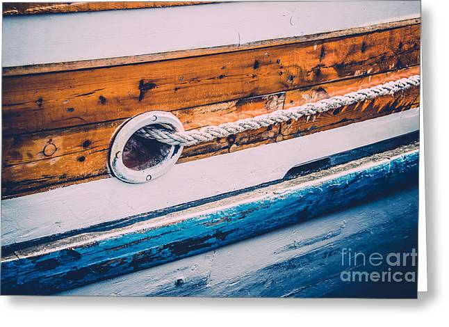 Historic Schooner Greeting Cards - Set Sail III Greeting Card by Christina Klausen